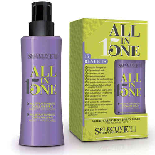 Selective All in One 15 in 1 Spray Maske Kur Hitzeschutz Volumen 150ml